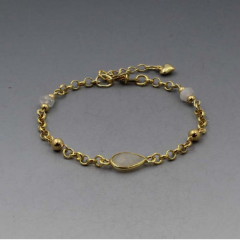 Moonstone Bracelet in Gold Vermeil