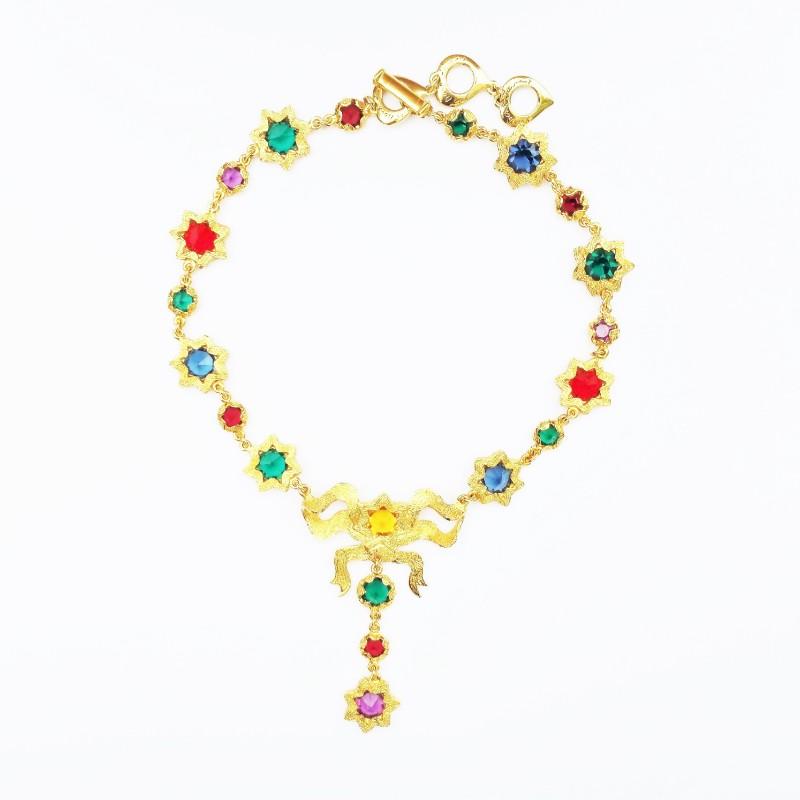 5dca442d0e7 Vintage Dior multi crystal star necklace YSL ...