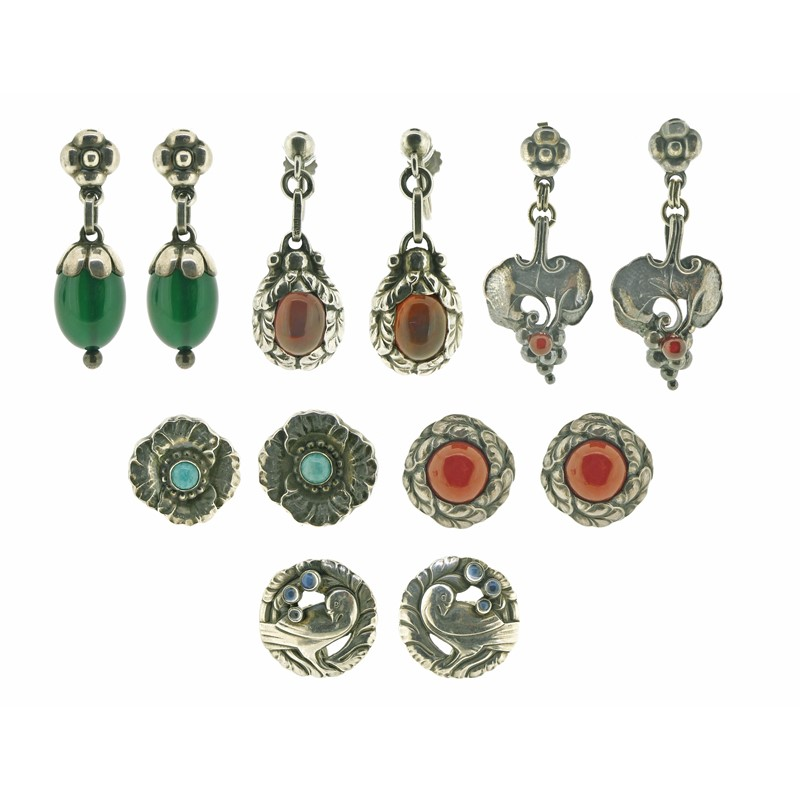 Jensen earrings from Anne Shannon collection