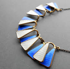 Askel Holmsen enamel necklace