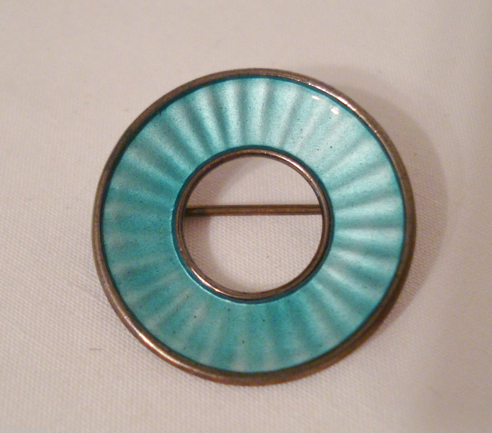 EINER Modhal blue circle enamel modernist brooch