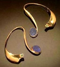 Earrings modernist by Grete Prytz Kittlesen