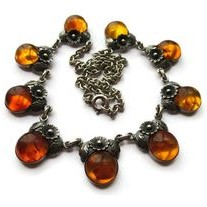NE From baltic amber daisy necklace