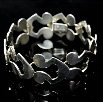 Karen Strand silver inlerlinking bracelet for A Dragsted
