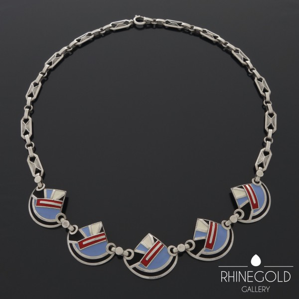 Theodor Farhner 1920's art deco necklace