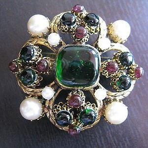 Chanel goosens poured glass brooch