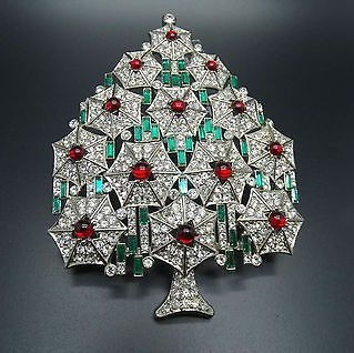 Cristobal london xmas tree brooch