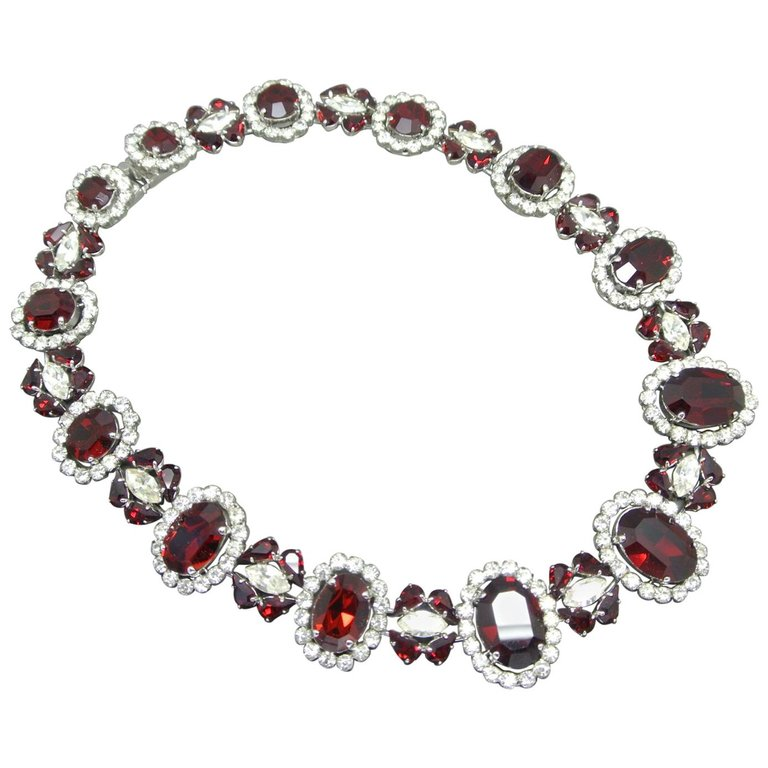 Ddior 1963 red crystal necklace