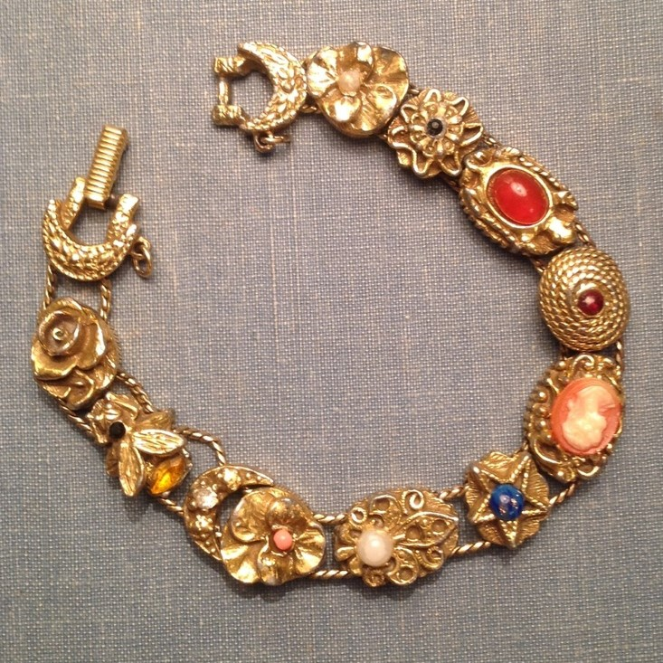 Antique slide bracelet