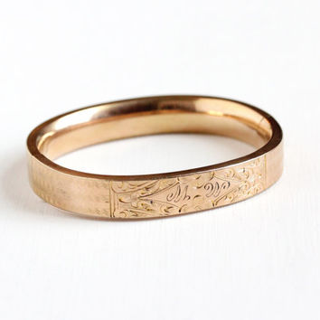 Edwardian rose gold hinged bangle