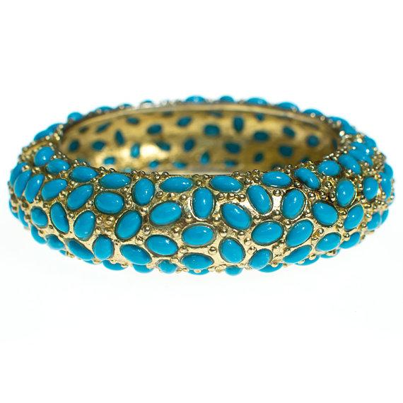 1960's turquoise bangle